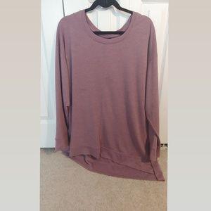 Long sleeve purple shirt/light cover up